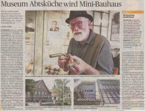 Austellungsankündigung Bauhaus Drücker – Rheinische Post Pressebericht vom 19.07.2019