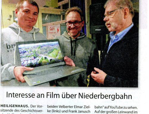 2. Termin für Film Niederbergbahn Stadtanzeiger 08.02.2020 18:30 Uhr