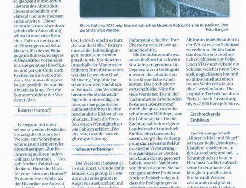 """Museum Abtsküche Wechselausstellung """"Hinter Schloss und Riegel"""" – Stadtspiegel Essen 30. Jun. 2021"""